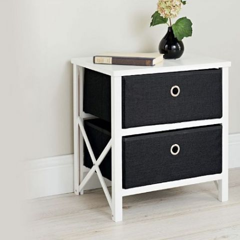 Black & White Bedside Table